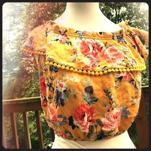 Ambiance Crop Top Floral Print Blouse Top